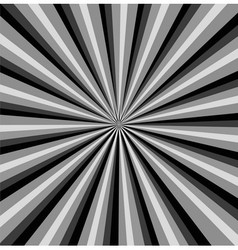 Black and white rays background vector