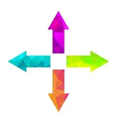 Bright arrow icon set vector image vector image