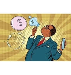 Business boss and financial bubbles vector