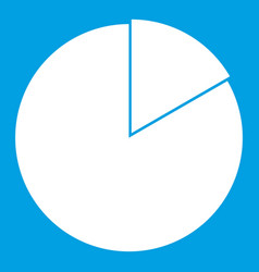 Business pie chart icon white vector