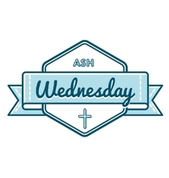 Catholic ash wednesday greeting emblem vector