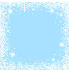 christmas frame with white snowflakes vector image
