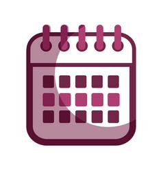 Contour calendar date remember business events vector