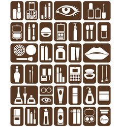 Cosmetics icons vector