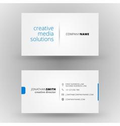 Creative business card design print templat vector