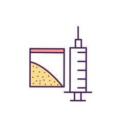 dangerous drugs rgb color icon vector image