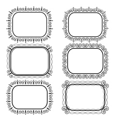 Decorative vintage frames vector image