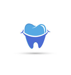 Dental care logo design vector