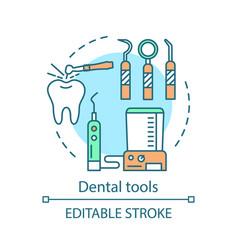 dental tools concept icon vector image