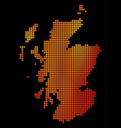 Dot fire scotland map vector