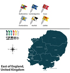 East of England vector