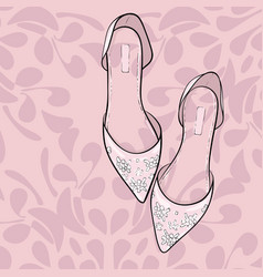 elegant fashion shoes sandals flats vector image