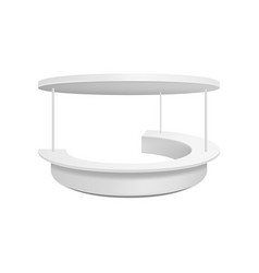 Empty retail stand vector