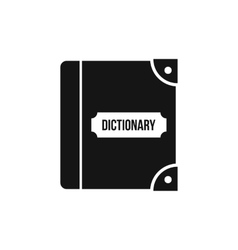English dictionary icon simple style vector image