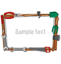 frame template with different tools vector image
