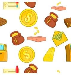 Funding pattern cartoon style vector