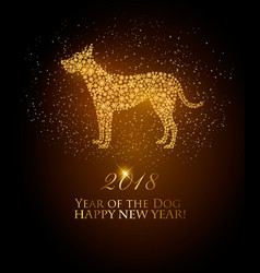 happy new year 2018 background year of the dog vector image