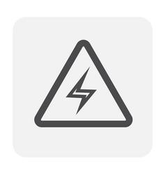 high voltage icon vector image