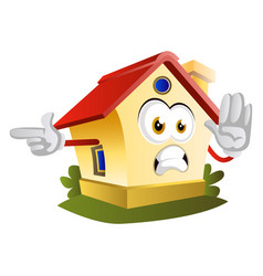 house is showing direction on white background vector image