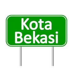 Kota Bekasi road sign vector