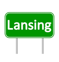Lansing green road sign vector