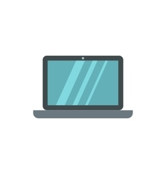 Laptop icon flat style vector image