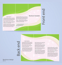 Layout tri-fold brochures vector