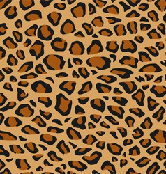 Leopard Fur or Skin Seamless Pattern vector image
