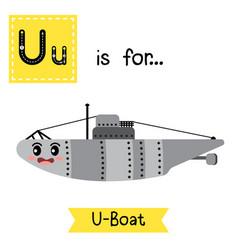 Letter u tracing u-boat vector