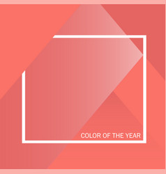 Living coral color of the year color trend vector