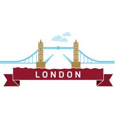 london tower bridge linear vector image