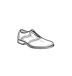 male shoe hand drawn outline doodle icon vector image