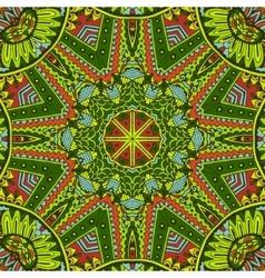 mandala decorative doodles seamless pattern vector image