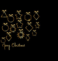 Merry christmas gold banner 2020 happy new year vector