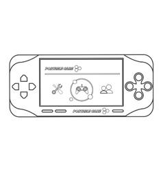 Mobile video game icon line design vector