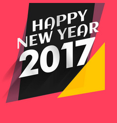 Modern new year 2017 background with flat colors vector