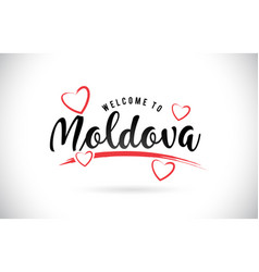 Moldova welcome to word text with handwritten vector