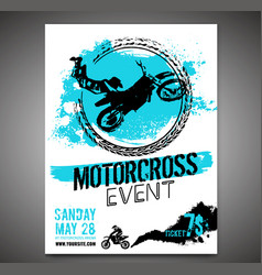 Motorcycle flying poster vector