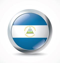 Nicaragua flag button vector image