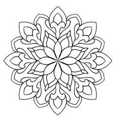 Ornamental simple mandala vector