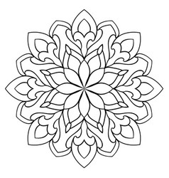 ornamental simple mandala vector image
