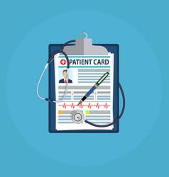 Patient card concept vector
