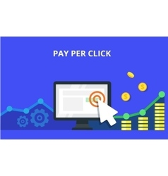 PPC advertising and conversion concept Internet vector