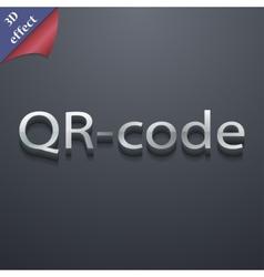Qr code icon symbol 3D style Trendy modern design vector