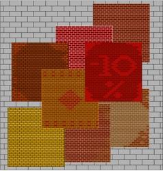seamless texture brick wall vector image