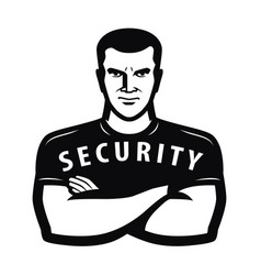 Security guard symbol protection concept vector