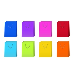 Set of Colorful Shopping Bags vector