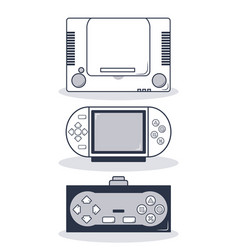 set of videogame consoles vector image