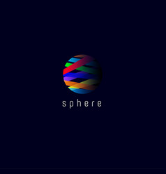 sphere l media logo vector image