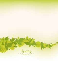 Spring falling leaves background vector